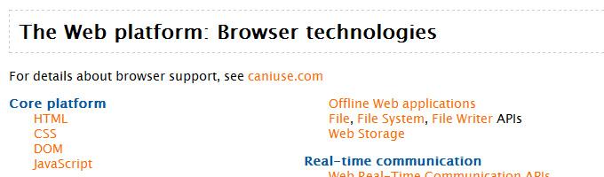 The Web platform: Browser technologies