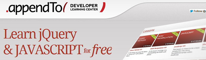 appendTo Developer Learning Center