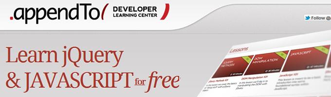 appendTo Developer Learning Center
