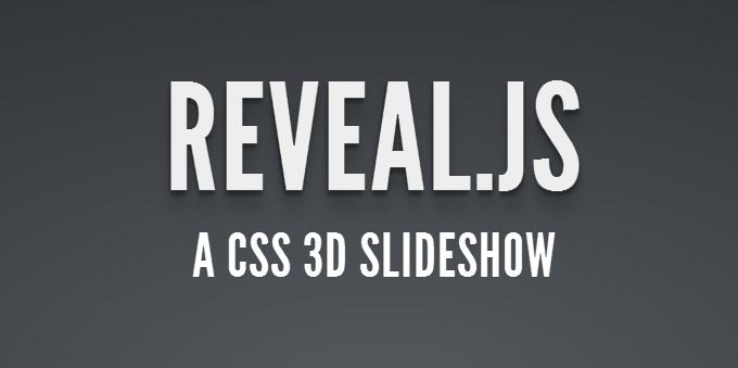 Reveal.js html slideshow