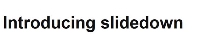 Slidedown
