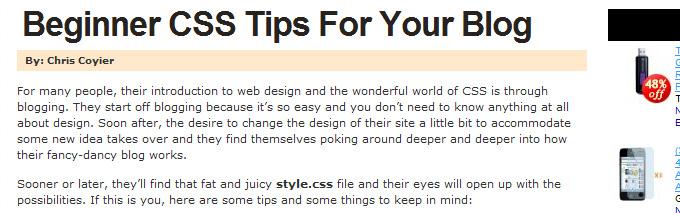 CSS-Tricks: Header Text Image Replacement