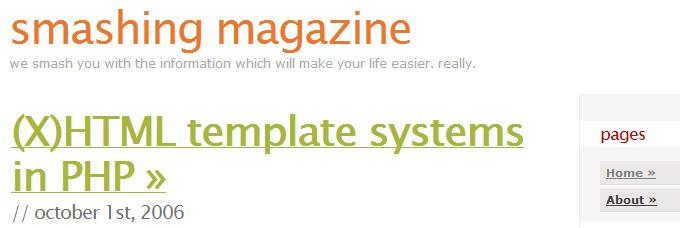 Smashing Magazine: Design Patterns: Badges, Tag Clouds, Huge Fonts