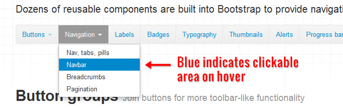 Bootstrap's dropdown