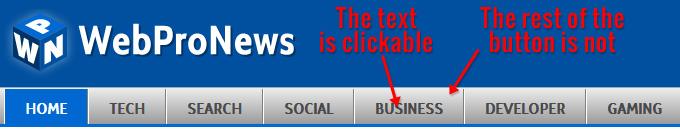 WebProNews' navigation click area