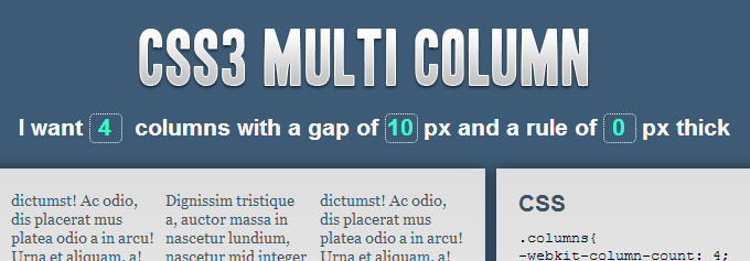 CSS3 Multi Column
