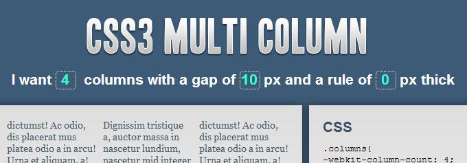 CSS3 Multi Column