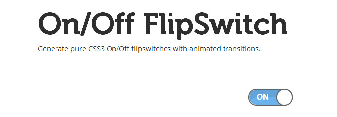 Pure CSS3 On/Off Flipswitch