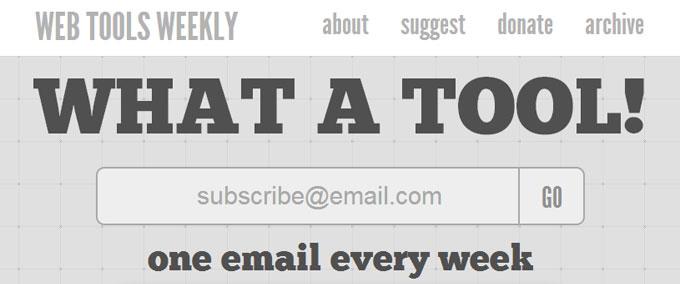 Web Tools Weekly
