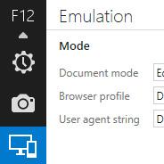 IE11 Emulation